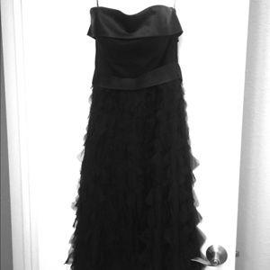 WHBM black strapless dress size 4